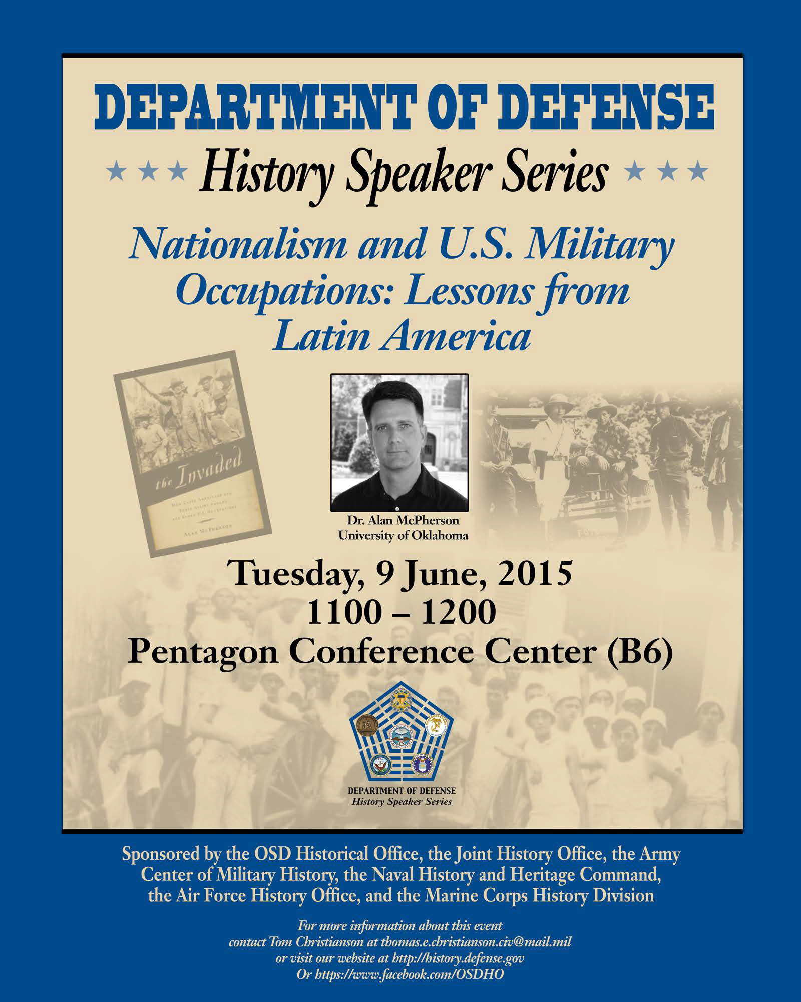 Tom kennedy us army claims service - June 9 2015 On Tuesday 9 June 2015 At 1100 In Room B6 Of The Pentagon Conference Center Alan Mcpherson Will Be Speaking About U S Military Operations